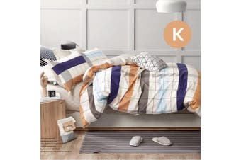 King Size Creamery Design Quilt Cover Set
