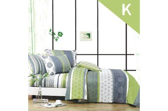 King Size DEXTER Design Quilt Cover Set