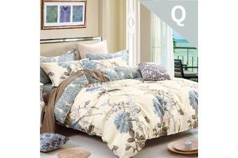 Queen Size Dandelion Design Cotton Quilt Cover Set