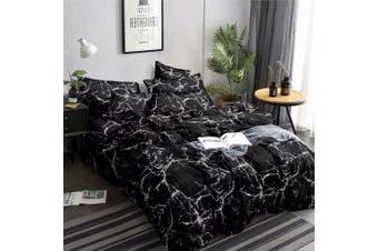 Double Size Dark Marble Quilt/Doona Cover Set