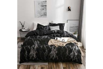 Queen Size Dark Marble Quilt/Doona Cover Set