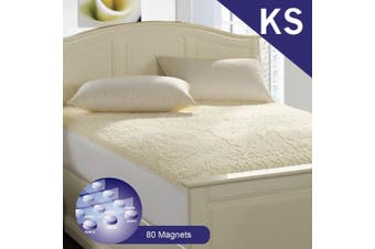 King Single Size Aus Made Fully Fitted Magnetic Wool Underlay
