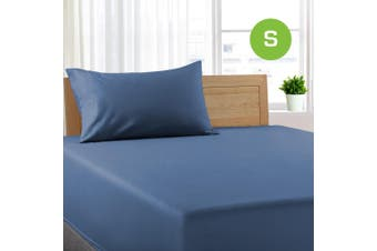 Single Size Ocean Color Poly Cotton Fitted Sheet + Pillowcase