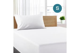 Single Size White Color Poly Cotton Fitted Sheet + Pillowcase