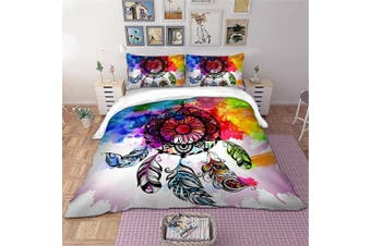 King Size Frenzy Dream Catcher Quilt/Doona Cover Set