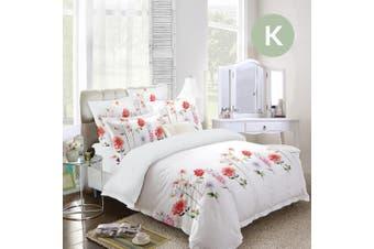King Size Garden Design Quilt Cover Set