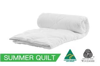 King Size Australian Made 200GSM Summer Wool Quilt/Doona