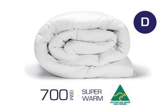 Double Size 700GSM 100% Australian Made Merino Wool Quilt/Duvet/Doona