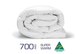 King Size 700GSM 100% Australian Made Merino Wool Quilt/Duvet/Doona