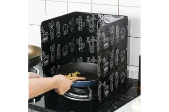 Kitchen Oil Splash Guard Cooking Oil-Proof Board Kitchenware (CACTUS)