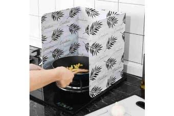 Kitchen Oil Splash Guard Cooking Oil-Proof Board Kitchenware (LEAF)