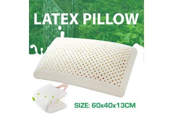 100% NATURAL FLAT LATEX PILLOW With FINE WHITE STRETCH COVER