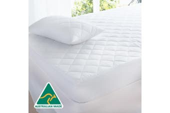 Cotton Quilted Aus Made Fully Fitted Mattress Protector -King