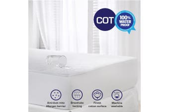 New Terry Cotton Fully Fitted Waterproof Mattress Protector-Baby Cot
