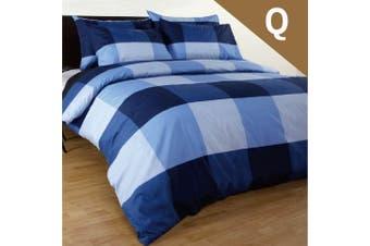 Queen Size Magic Check Quilt/Doona Cover Set