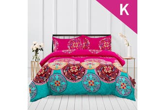 King Size Mandalas Design Quilt Cover Set