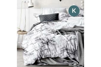 King Size Marble Quilt/Doona Cover Set