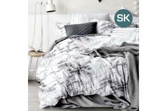 Super King Size Marble Quilt/Doona Cover Set