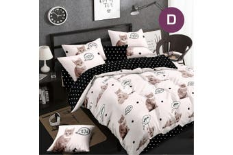 Double Size Meow Quilt/Doona Cover Set
