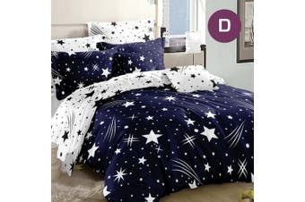 Double Size Meteor Star Quilt/Doona Cover Set