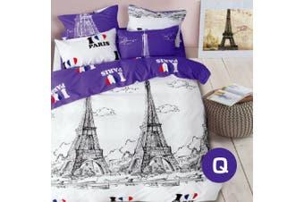 Queen Size PARIS Design Quilt Cover Set