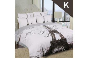 King Size PARISENNE Design Quilt Cover Set
