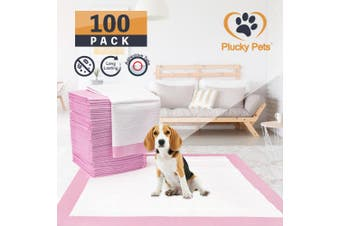 100 Pack Puppy Pet Dog Indoor Cat Toilet Training Pads(PINK)