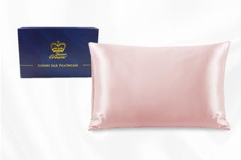 One Piece 100% Pure Two-Side Mulberry Silk Pillowcase Blush