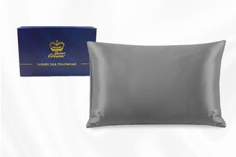 One Piece 100% Pure Two-Side Mulberry Silk Pillowcase Grey