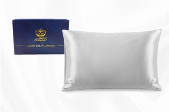 One Piece 100% Pure Two-Side Mulberry Silk Pillowcase Silver
