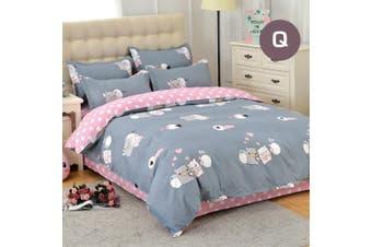 Queen Size Piggy Love Quilt/Doona Cover Set