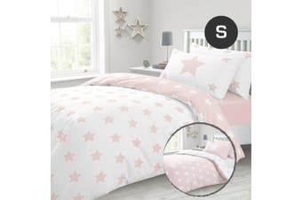 Pinkly Stars Quilt/Doona Cover Set