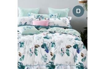 Double Size Plantain Design Cotton Quilt Cover Set