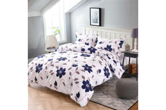 Double Size Brunnera Quilt/Doona Cover Set