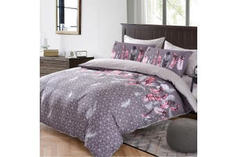 King Single Size FEATHERS Quilt/Doona Cover Set