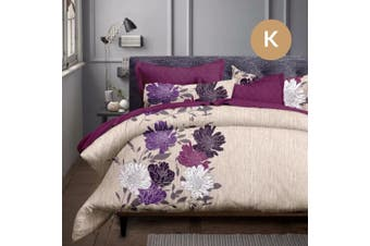 King Size Float Flora Quilt/Doona Cover Pillowcase Set