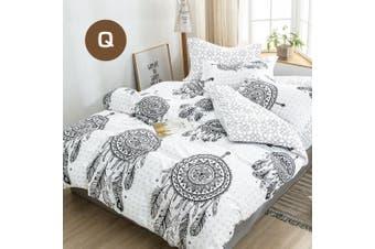Queen Size Mandala Dream Catcher Quilt/Doona Cover Set
