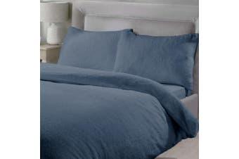Double Size Teddy Fleece Soft Warm Quilt Doona Duvet Cover Pillowcase Set Ocean