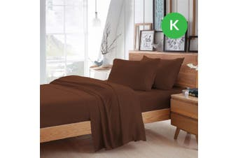 King Size Chocolate Color Poly Cotton Fitted Sheet Flat Sheet Pillowcase Sheet Set