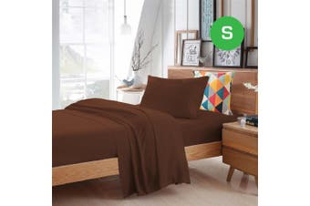 Single Size Chocolate Color Poly Cotton Fitted Sheet Flat Sheet Pillowcase Sheet Set