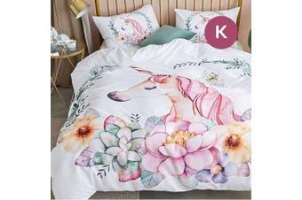 King Size Unicorn Quilt/Doona Cover Set