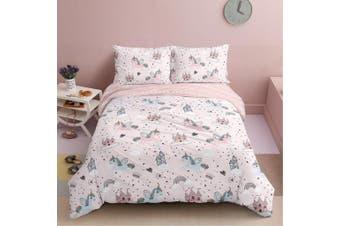 Unicorn World Design Cotton Quilt Cover Set