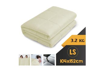 WEIGHTED BLANKET LONG SINGLE Heavy Gravity CREAM 3.2KG