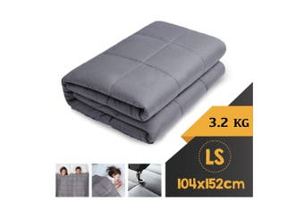 WEIGHTED BLANKET LONG SINGLE Heavy Gravity GREY 3.2KG