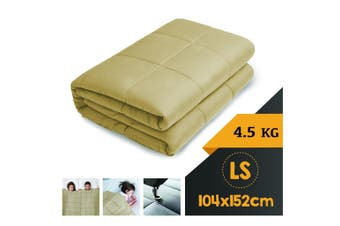 WEIGHTED BLANKET LONG SINGLE Heavy Gravity LINEN 4.5KG