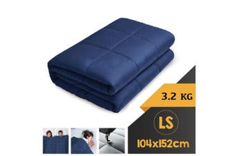 WEIGHTED BLANKET LONG SINGLE Heavy Gravity NAVY BLUE 3.2KG