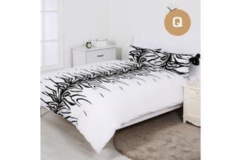 Queen Size Zebra Design Quilt/Doona Cover Set