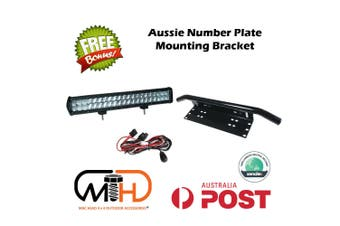 Number Plate Frame Combo Bracket Car Driving LED Light Bar Holder BLACK Offroad