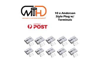 10x Anderson Style Plug connector 50AMP Caravan Trailer Solar 6AWG GREY DC AU