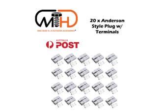 20x Anderson Style Plug connector 50AMP Caravan Trailer Solar 6AWG GREY DC AU